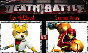 Fox McCloud vs Samus Aran by SonicPal