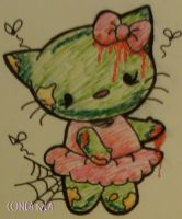 Zombie Hello Kitty by ElectricDinoSaur