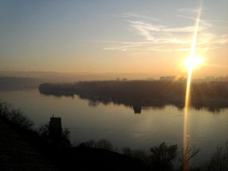 Danube from mobile phone camera by blagoivan