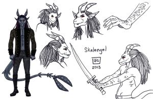 Sketch Page_Skelengel by BlackBirdInk