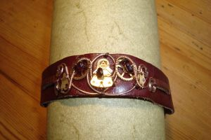 Steampunk leather wristband by rain2shine