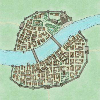 Small Medieval Town Map by Vladar4