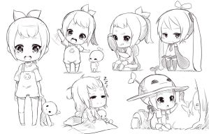 Chibi sketch by Fuka-Enrique
