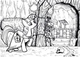 Lifting the Darkness - A Pony Black'nWhite Picture by SnipperWorm