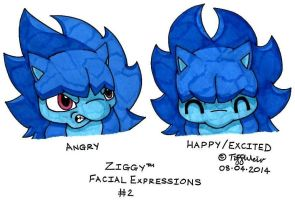 Ziggy Facial Expressions 2 by trinityweiss