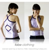 fabe: lavender eyelet top by feanne