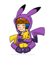 Corey and Pikachu by SummerSnowLeopard