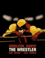 D-Man: The Wrestler homage by pjperez