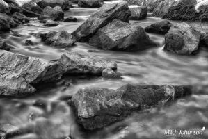 Blue Winter Water BW by mjohanson