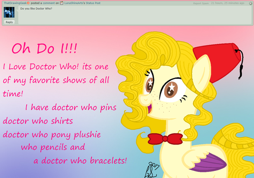 Ask Luna Shine (or me) 26 Doctor Who by LunaShineArts