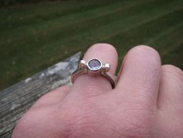 Tanzanite bezel set ring in sterling by whippetgirl