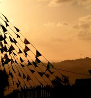 Flags in the wind by burcyna