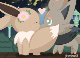 eevee and zorua by jirachicute28