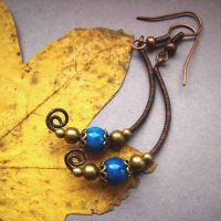 old moon earrings by Lethe007