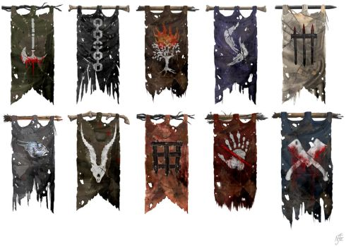 SOI - Orc and Troll Tribe Banners by chermilla