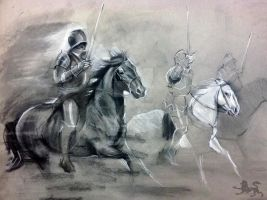 cavalry sketch by lupodirosso