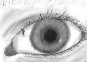 Charcoal eye by xSeanx123