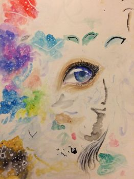 Watercolor Testing  by Honeycomb1011