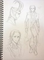 Loki sketch by mewwi12345