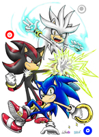 The Hedgehog Trio colored by Auroblaze