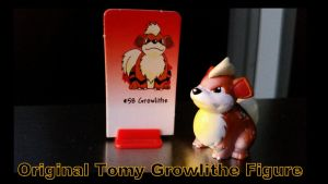 Tomy Growlithe Figure and Game piece by Vesperwolfy87
