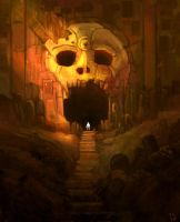 Skull entrance by Trudsss