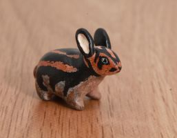 Sumatran rabbit polymer clay totem by lifedancecreations