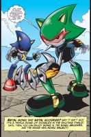 Metal Sonic AND Metal Scourge by LukeVei-Da-Hedgehog