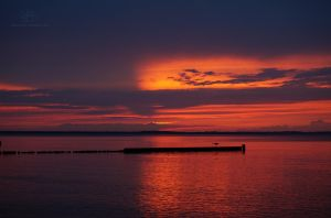 Baltic sea sunset III by Lykorias