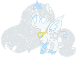 Chibi Winter Goddess (colored) by Angelkitty17