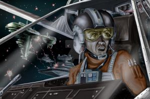 X Wing Pilot final JPG by TheArtofScott