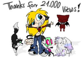 Thanks for 21000 by Phantom--Wolf