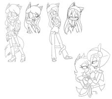 :Commission: More Sketches by AnaP15