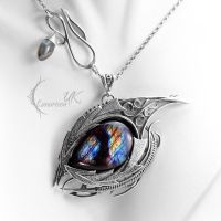 NAVORRTH DRACO  - silver and labradorite by LUNARIEEN