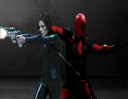 DEADPOOL AND DOMINO (FAN MADE LIVE ACTION) by Darth-Slayer