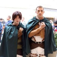 Eren Jaeger and Erwin Smith cosplay - Anime Boston by ScottyMorace