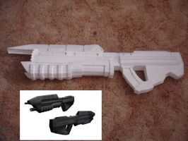 Halo CE Assault Rifle Pepakura by Hikarilover123