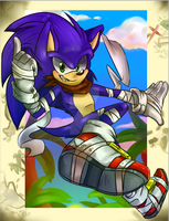 Sonic Boom!(blue arms ver.) by Galaxynite