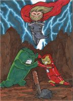 Quest for the Hammer  ACEO by superupaman