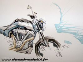 mt01 yamaha by dessinsdejul