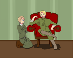 Hetalia - Poland and Lithuania by ShadowCutie1