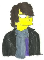 Simpsonized Sherlock by TheSimpsonsFanGirl