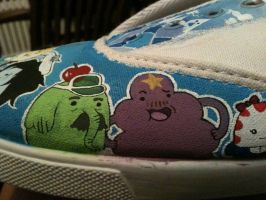 AT shoes WIP LSP and Tree Trunks by PirateTabby