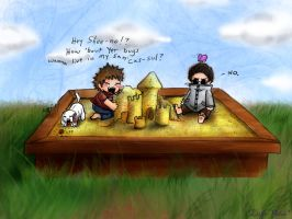 Baby Shino + Kiba + Sandbox by Lithe-Fider