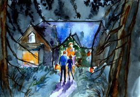 The Cottage  Quick watercolour sketch by LittleSeaSparrow