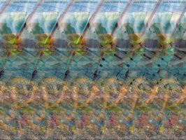 Surf with Dolphin. Stereogram by 3Dimka