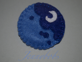 mlp Luna felt brooch by Blindfaith-boo