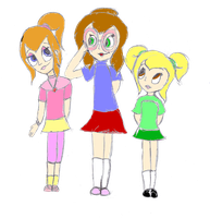 The Chipettes as humans by angeldea12