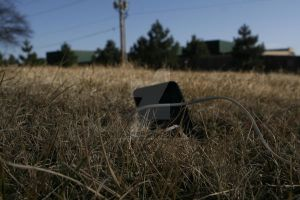 iPod in a dead yard by Funnyshapedcourage