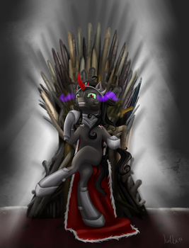 Sombra and the Iron Throne by Holka13